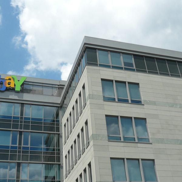 Glasarbeiten am ebay Gebäude