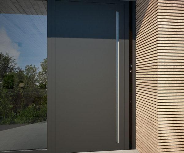 Eine Tür aus Alu